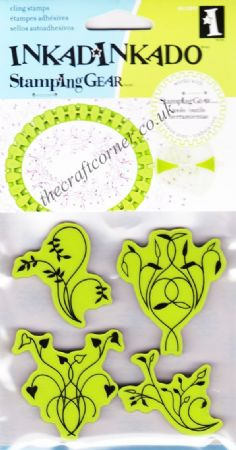 Twisted Vines Cling Rubber Stamps Set From Inkadinkado